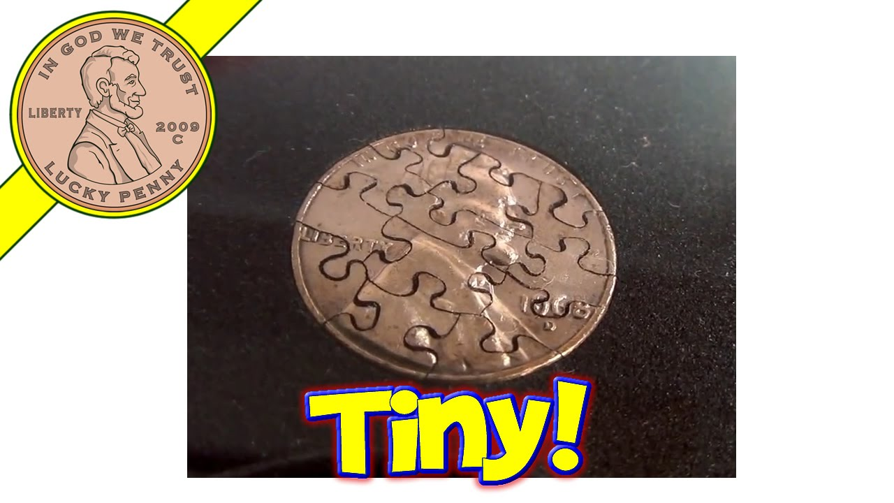 Penny Puzzle - 13 Piece 1968 D Lincoln Penny Coin Cut Jigsaw
