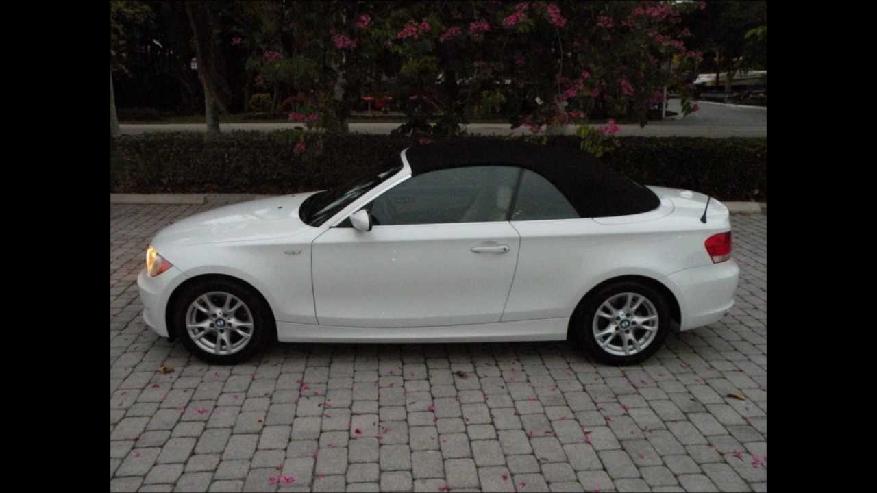 2008 BMW 128i White Convertible For Sale Ft Myers FL 33908 - YouTube
