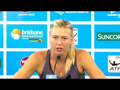 Maria Sharapova withdraws: Brisbane International 2013