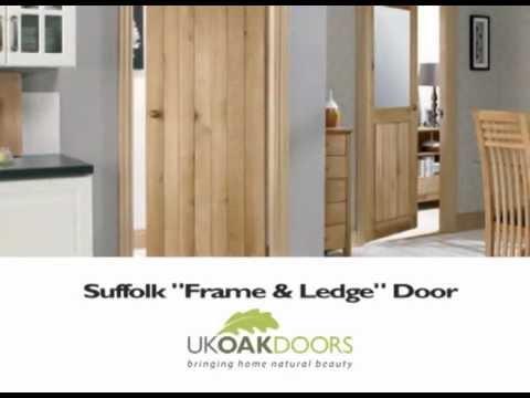 Suffolk \ Frame \u0026 Ledge\  100% Solid Oak Door from UK Oak Doors & Suffolk \