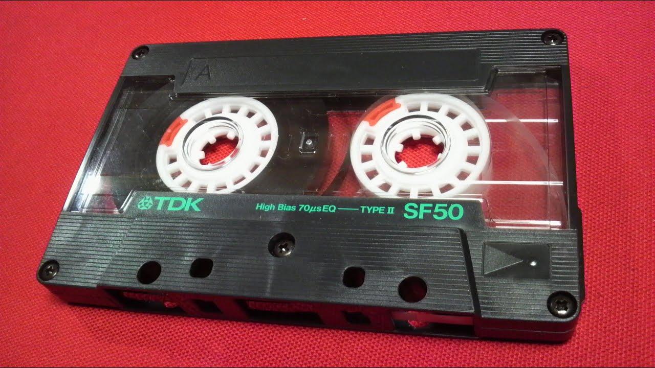 カセットテープ tdk sf high position type retro vintage compact