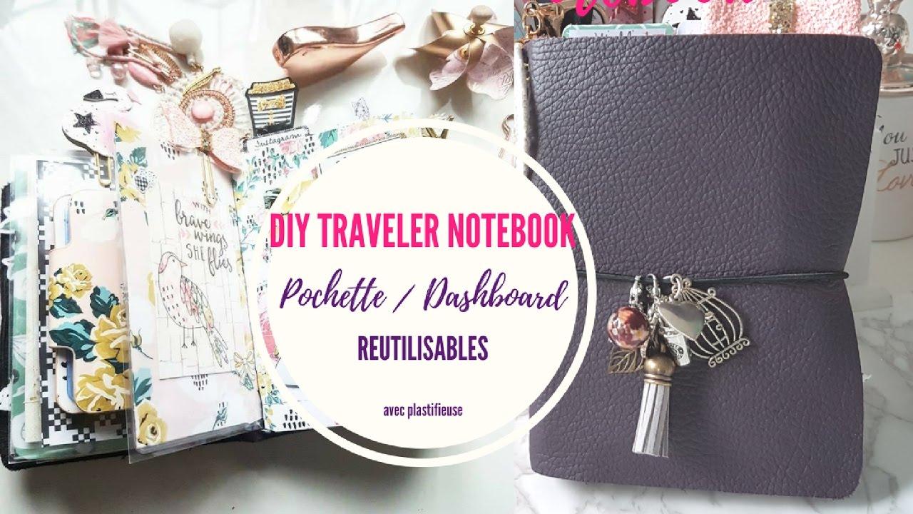 Diy Traveler Notebook Pochette Dashboard Reutilisable Avec