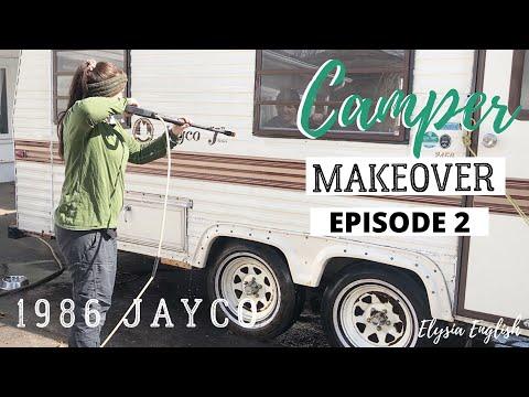 Camper Makeover | EXTREME Trailer Renovation | Demo DAY!
