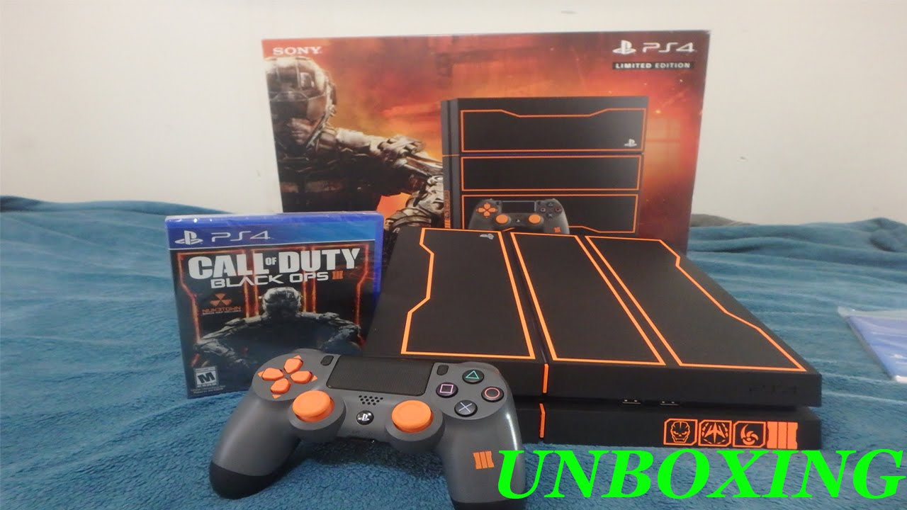 Call Of Duty Black Ops 3 Ps4 1tb Bundle Unboxing Youtube