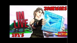 (NAE) FORTNITE LIVE ZONE WARS/1v1s/*NEW* 🎮 ON PC/ USE CODE SlapAnyone/ ROAD TO 2K SUBS!/