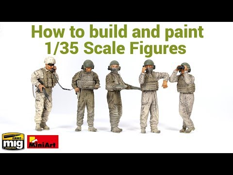 Tutorial - How to build, paint and weather 1/35 scale miniatures - USMC Tank Crew (MiniArt)