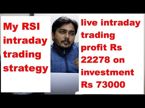 live intraday profit Rs 22278 on investment Rs 73000 and My RSI intraday trading strategy
