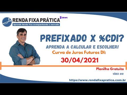 Prefixado ou Selic? Curva de Juros Futuro DI B3 - 30/04/2021 - Vídeo 41
