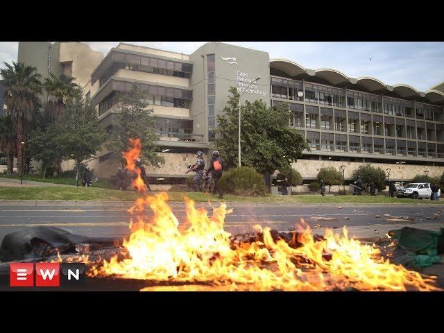 South Africa's CPUT students clash with police during violent protests