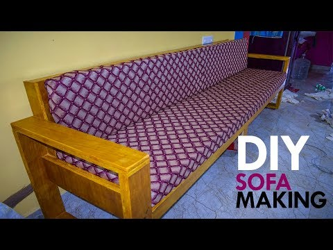DIY Long Sofa Making with Plywood | Furniture Woodworking