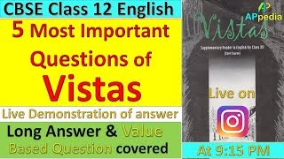 5 Most Important Questions of Vistas