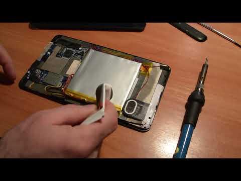 Замена батареи/аккумулятора на планшете Prestigio Grace 3118