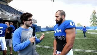 #CISfball   Entrevue d'après-match - Byron Archambault