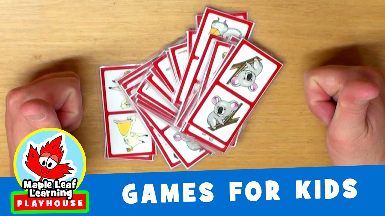 Animal Dominoes Game for Kids | Maple Leaf Learning Playhouse