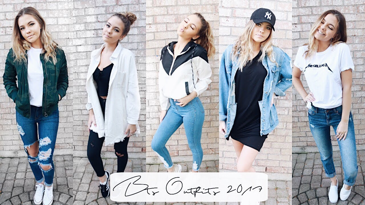 Back To School Outfit Ideas 2017 Youtube