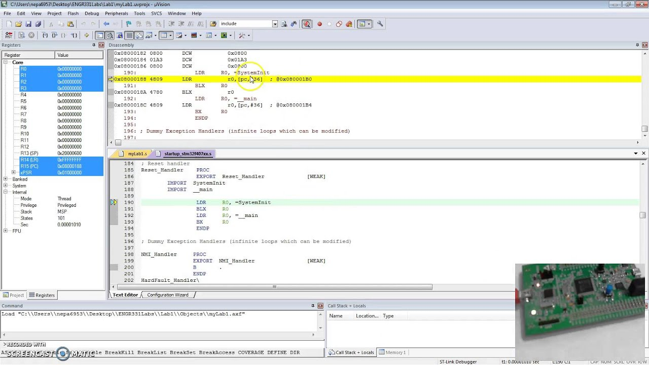 keil uvision 5 debugging guide youtubekeil uvision 5 debugging guide