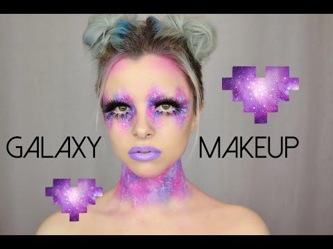 Pink & Purple Galaxy Makeup | Colour Creep