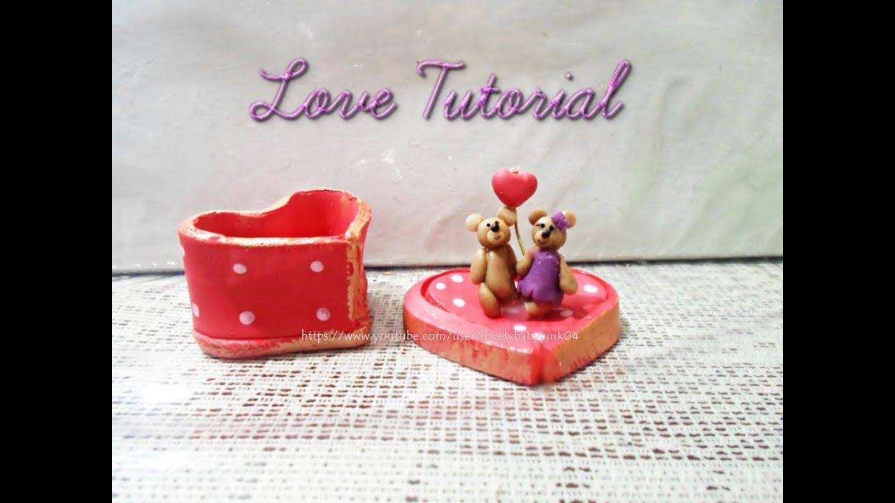 Manualidades amor y amistad porcelana fria paso a paso - Manualidades para adultos paso a paso ...