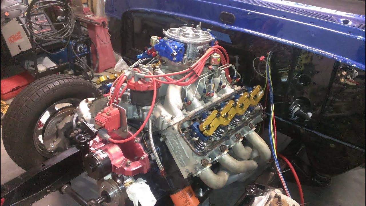 hight resolution of crown vic swaped f100 501ci big block drag race