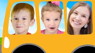 Детская песня - Колеса у автобуса крутятся   Песни для детей от Тимы и Еси
