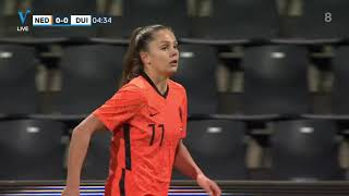 Netherlands Germany women International friendly 24 02 2021 FIRST HALF
