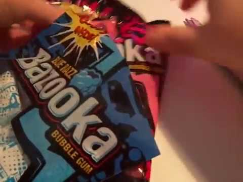 Bazooka Bubble Gum Song Bazooka Bubblegum  Special Unwrapping & Unboxing 2 Packages