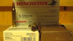 5.56mm 55 Grain FMJ Winchester Q3131 Ammo at SGAmmo.com