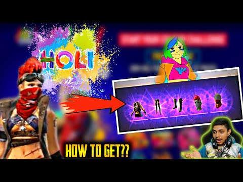 Huge Holi Event Details - How To Complete!! Get Free Xm8 Skin - Garena Free Fire - 동영상