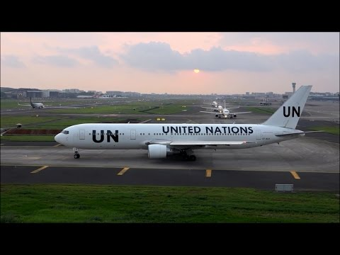 Rare Spectacular Take Off By United Nations Boeing 767-300ER Making Deafening Sounds At Mumbai
