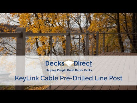 Cable Railing Pre Drilled Line Post by KeyLink