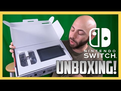 Nintendo Switch Unboxing! Thanks to Nintendo for providing it!