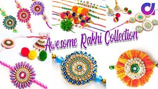 11 Awesome Rakhi to make at home | Raksha bandhan 2018 | silk thread rakhi | Artkala