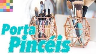 Porta Pincéis para decorar e organizar a penteadeira
