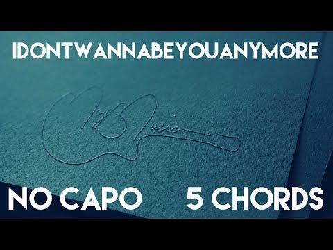How To Play idontwannabeyouanymore by Billie Eilish | No Capo (5 Chords) Guitar Lesson