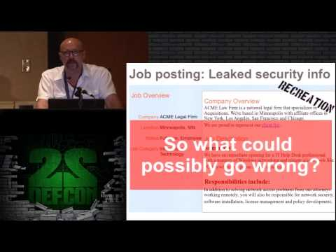 DEF CON 22 - Michael Schrenk - You're Leaking Trade Secrets