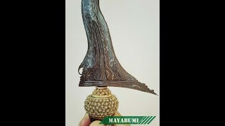 Keris Pusaka Sengkelat Tangguh Mataram Amangkurat Abad 17 Warangka Cendana Wangi Sertifikasi Museum Pusaka TMII JST 50