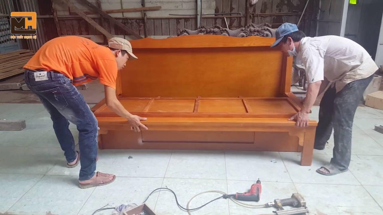 Qui trình sản xuất ghế sofa giường SG01 –  NỘI THẤT MẠNH HỆ