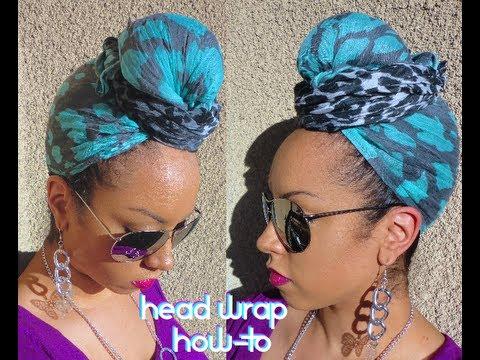 Easy HEAD WRAP Scarf Turban Style Tutorial