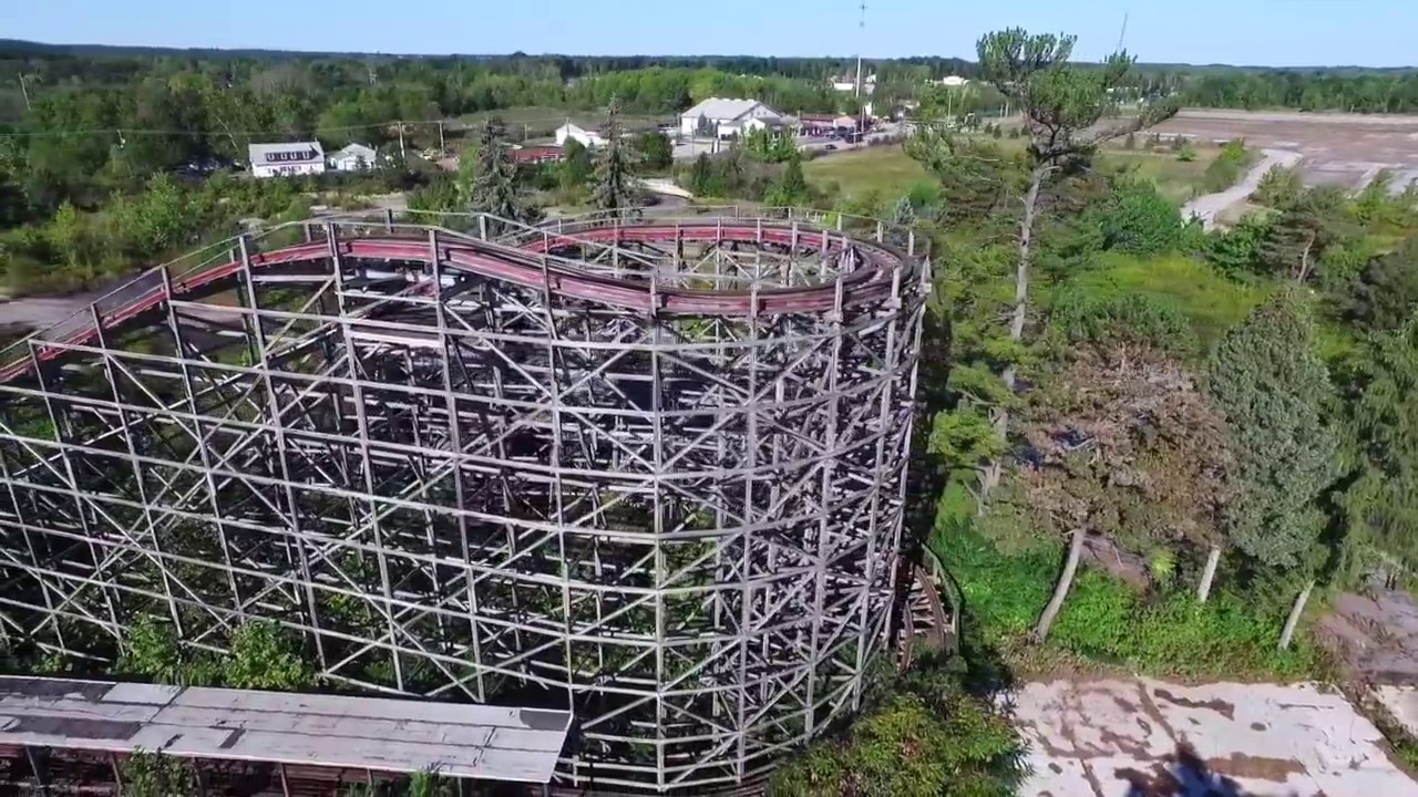 What's Left Of Geauga Lake In Ohio