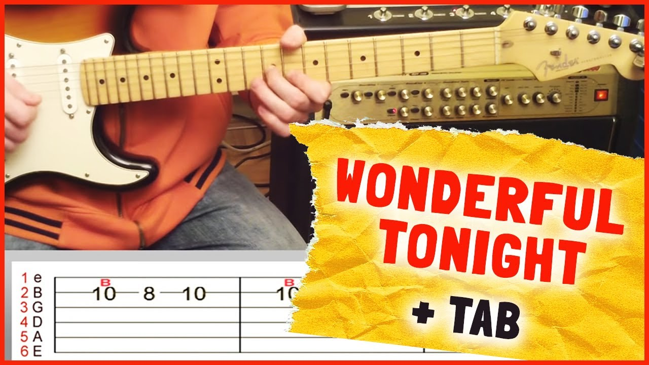 How To Play Wonderful Tonight By Eric Clapton On Guitar Intro Solo