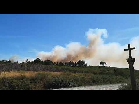 Incendio activo en Rodeiro