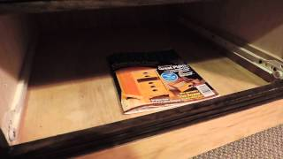 Hidden Shelf on 10 Drawer Dresser, Plywood Furniture