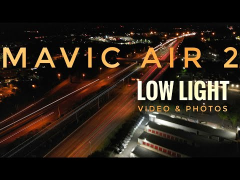 DJI Mavic Air 2 Low Light Flight - 4K Video and Long Exposure Photos