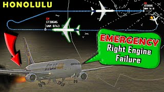 Atlas Air B767 has RIGHT ENGINE FIRE after takeoff | Emergency Return