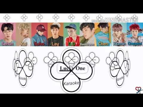 EXO ( 엑소 ) - Lucky one [Karaoke ver.] Color Coded Lyrics [Instrumental/Kpop]