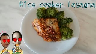 No Bake Lasagna In The Rice Cooker
