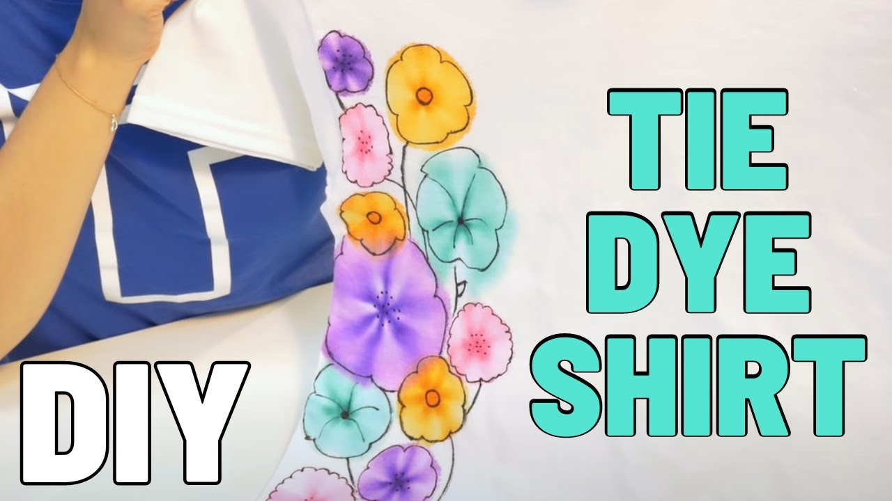 Make a Custom Tie Dye Shirt with Sharpies in Minutes!