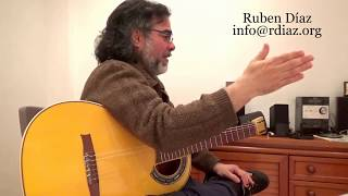 Hand claps in modern flamenco (Buleria & Tangos) Ruben Diaz guitar teacher
