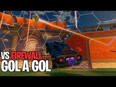GOL A GOL VS FIREWALL! CADA CHUTÃO... FOI SOFRIDO?! :D - Rocket League