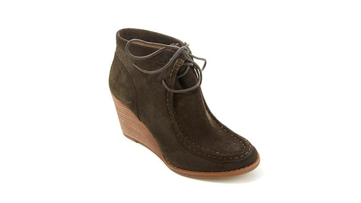 b3fb8352a38 Lucky Brand Ysabel Laceup Wedge Bootie - YouTube